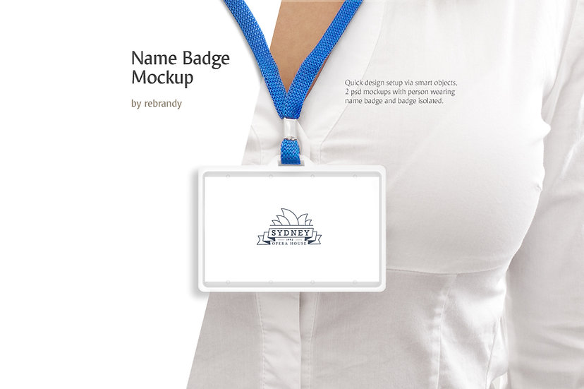Name Badge Mockup - Extended