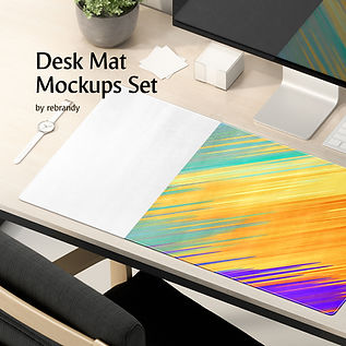 Desk Mat Mockups Set