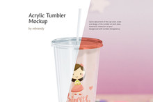 Acrylic Tumbler Mockup