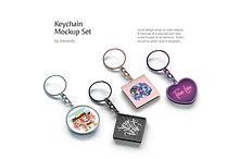 Keychain Mockups Set