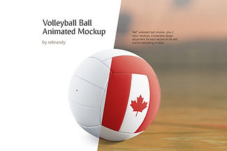Volleyball Ball Animated Mockup