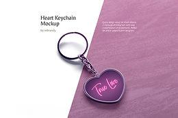 Heart Keychain Mockup