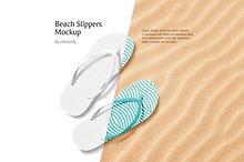 Beach Slippers Mockup