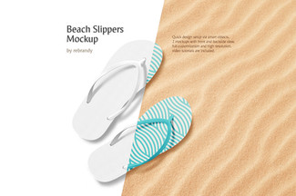 Beach Slippers Mockup