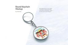 Round Keychain Mockup
