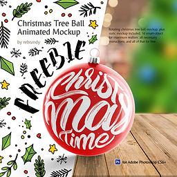 Freebie! Christmas Tree Ball Animated Mockup