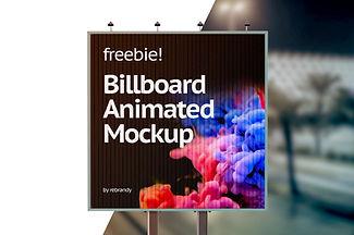 Freebie! Billboard Animated Mockup