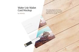 Wafer USB Wallet Card Mockup