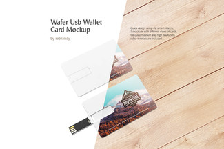 Wafer USB Wallet Card Mockup