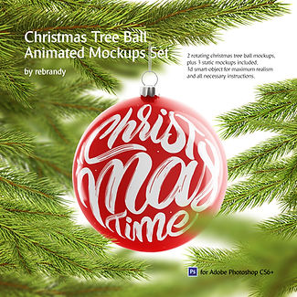 Christmas Ball Animated Mockups Set