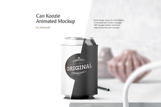 Can Koozie Animated Mockup