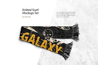 Knitted Scarf Mockups Set