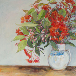Red Flowering Gum 2018 Oil on canvas 61