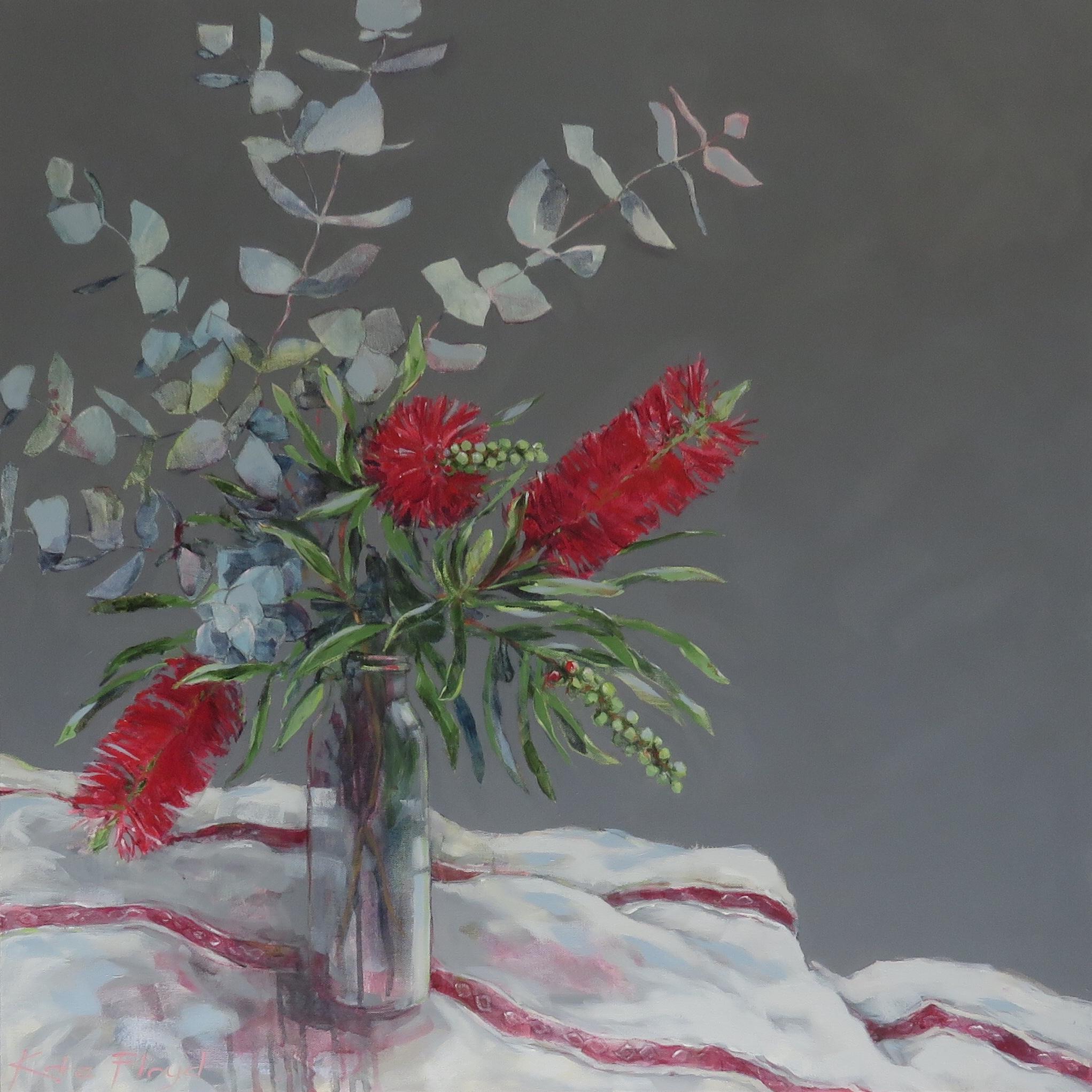 Crimson Bottlebrush 2018 Acrylic on canv