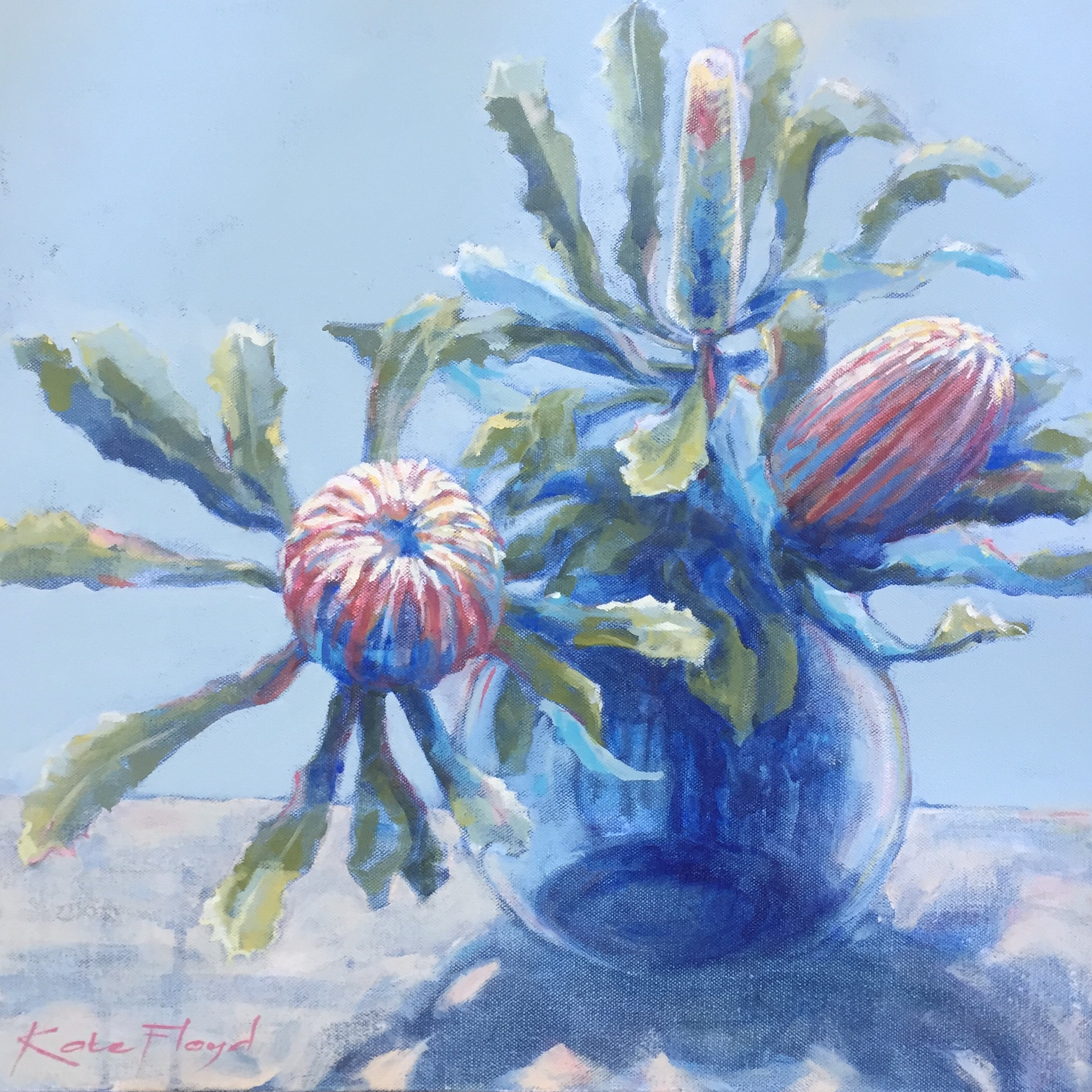 Banksia in Glass Jug, 2016