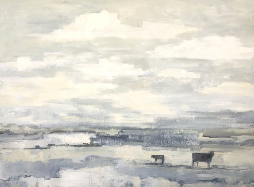 Western Landscape original oil ny Kainz