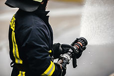 Firefighter fighting For A Fire Attack.j