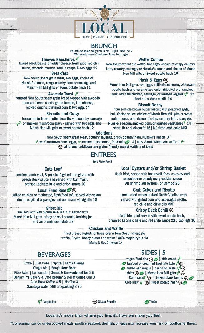 Entree menu _ Local Pawleys Island