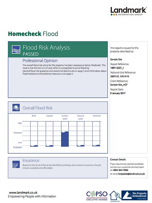 Homecheck Flood Report