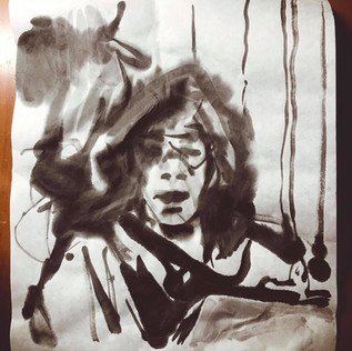 Sumi Ink on Rice Paper 2019