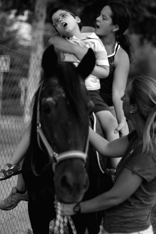 Jaime. Terapia con los caballos.