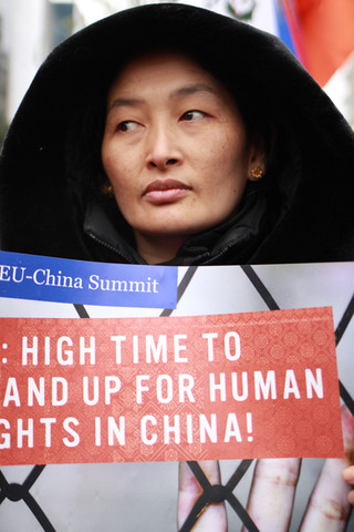 Protest Brussels. Human Rights. China