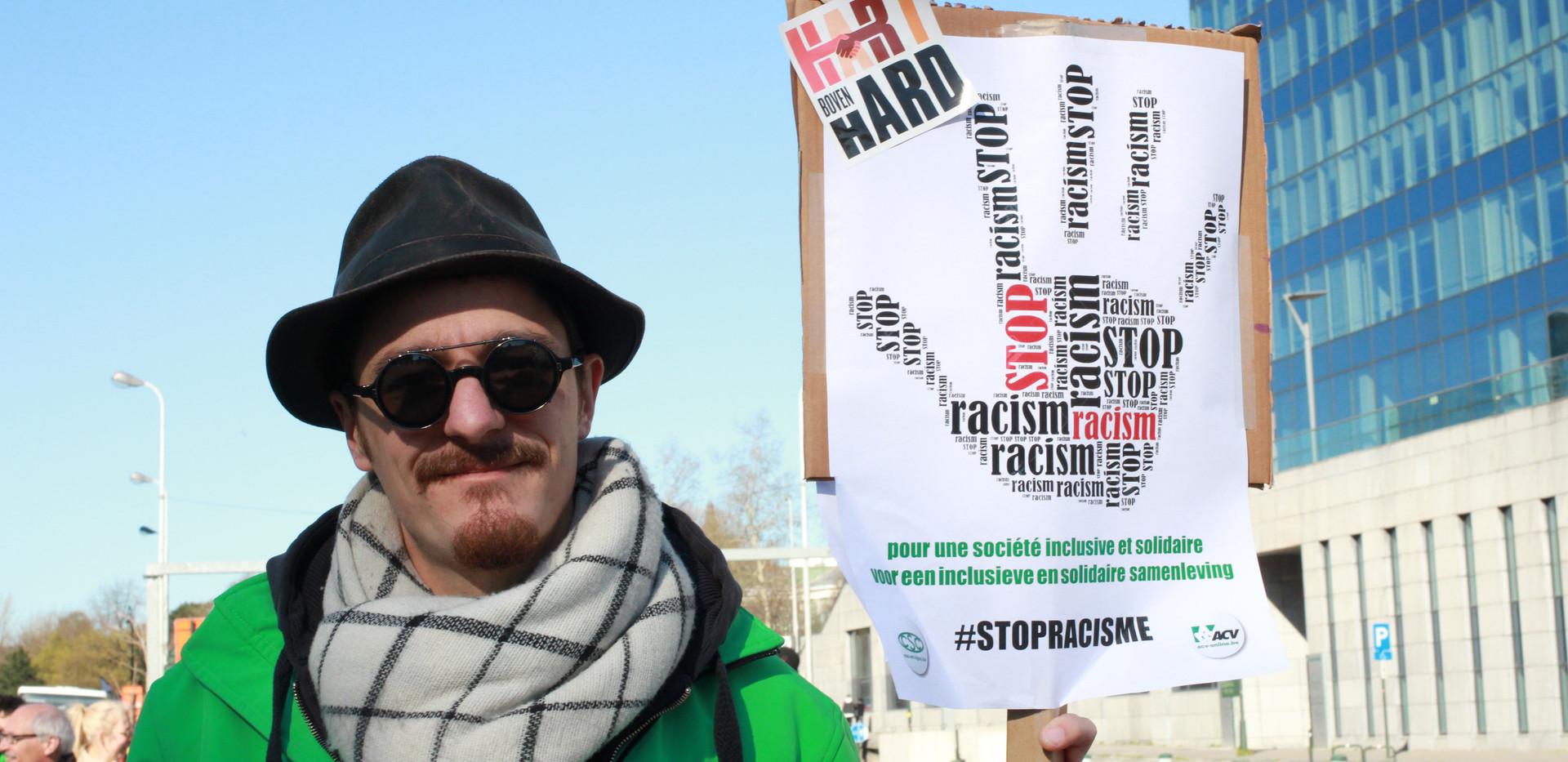 Protest against racism and discriminatio