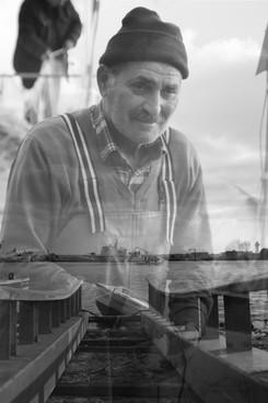 Fisherman. Sinop. Turkey. Double exposure. Photographer: Mari Trini Giner