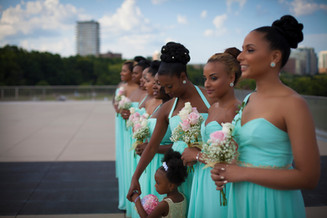 crystals beautiful bridesmaids!