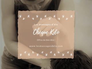 """Noël approche...découvrez nos cartes cadeaux """"Les massages d'Elo""""!"""