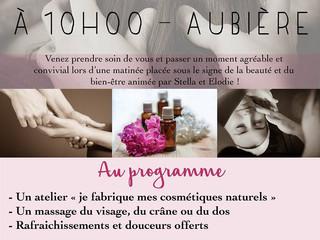 Atelier Bien-être et cosmétiques naturels le samedi 13 octobre à Aubière