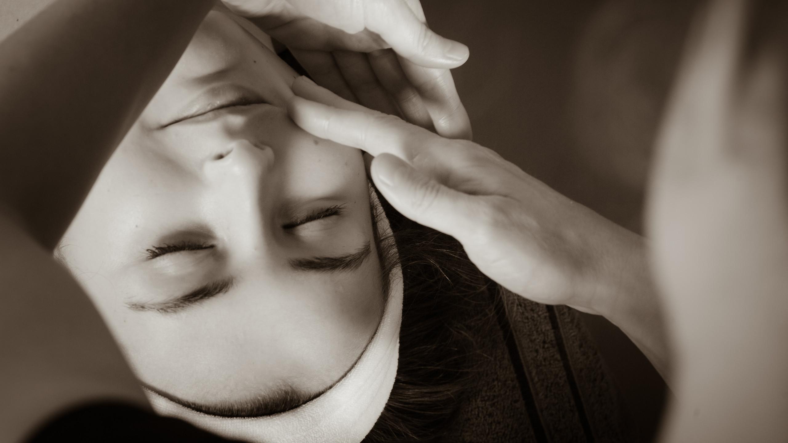 balayage du visage