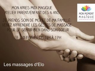 Atelier parents/enfants autour du massage