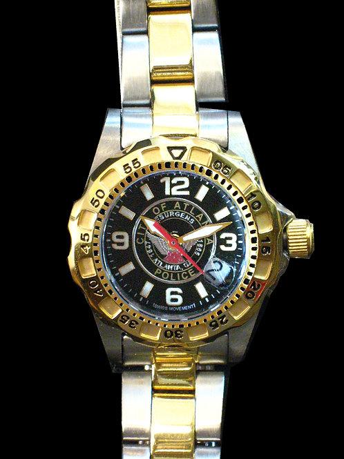 Atlanta Police Lady's 2-Tone Watch