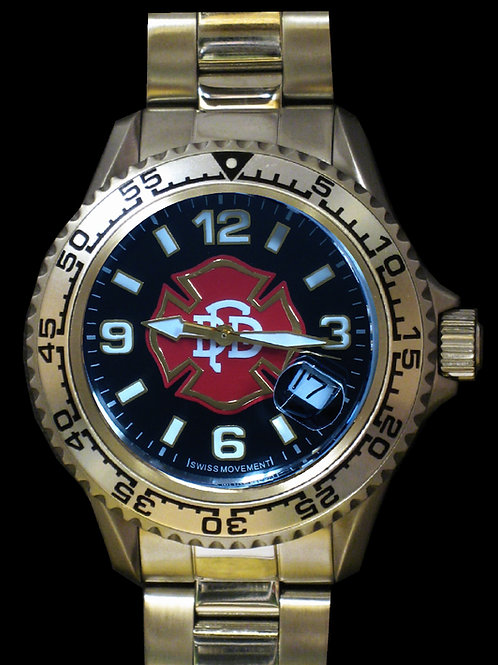 Dallas Fire-Rescue Man's Swiss Movement Dive Watch