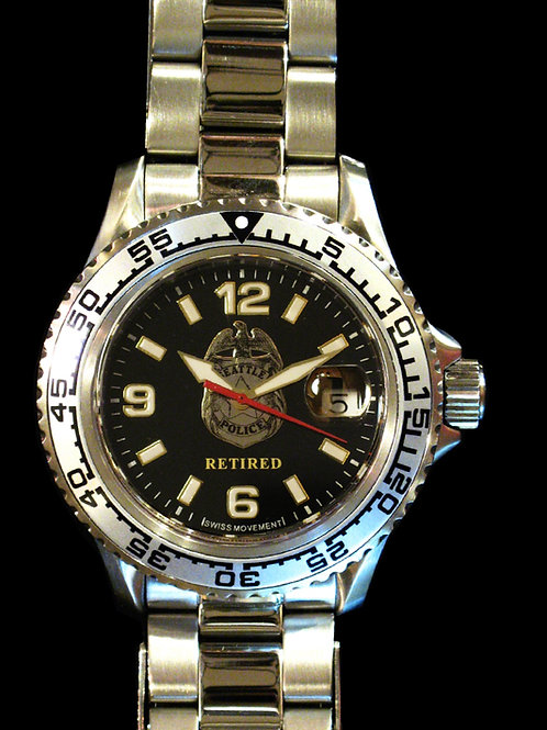 Seattle Police Department Retired Dive Watch