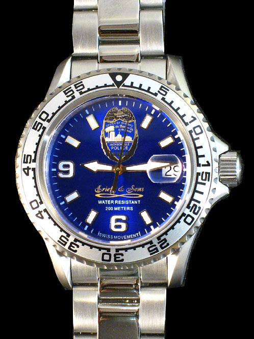 Jacksonville Police Department Man's Swiss Movement Dive Watch