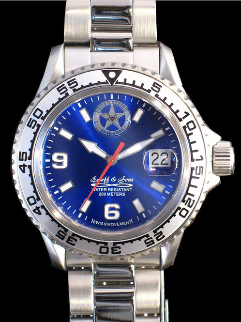 US Marshal Service Man's Blue Dial Dive Watch