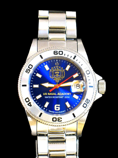 US Naval Academy Swiss Movement Dive Watch