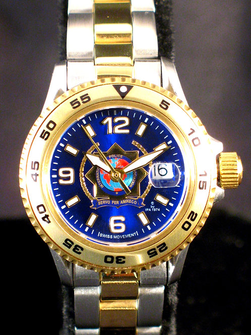 International Association of the Chief of Police Lady Swiss Movement Dive Watch
