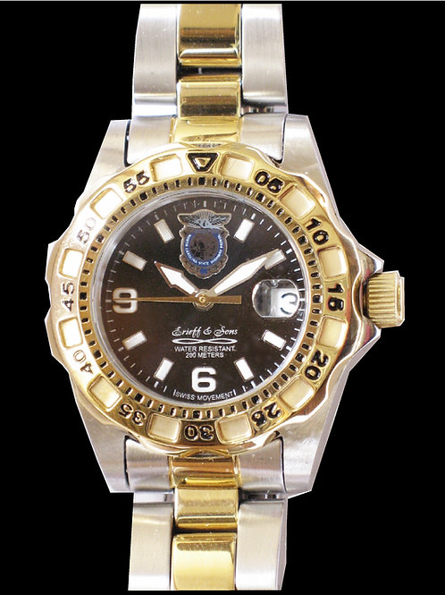 NC State Highway Patrol Lady's Two Tone  Dive Watch