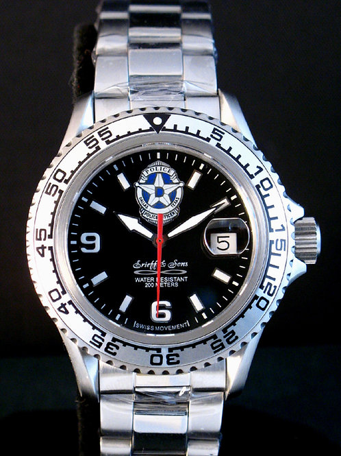 Dallas Police Department Swiss Movement Dive Watch