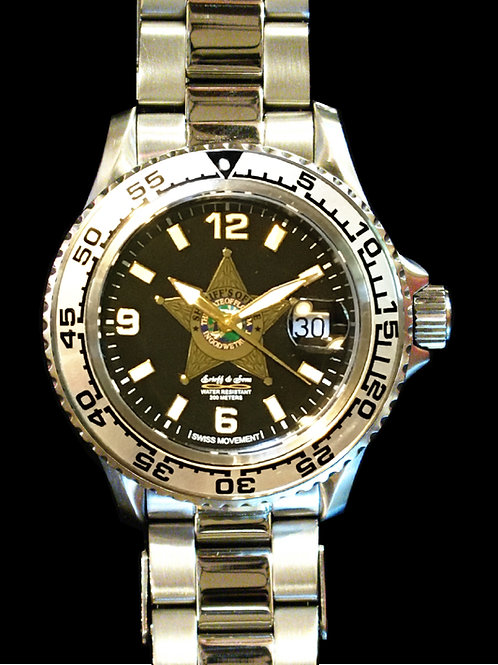 Florida Sheriff's Office Center Badge Dive Watch