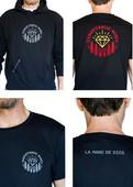 Beflockung Stammtisch Hoddie + T-Shirt