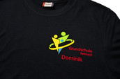 Beflockung T-Shirt Schule