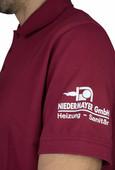 Beflockung Poloshirt Niedermayer
