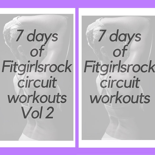 Combo E-Book Pack: 7 Days of Circuit Workouts Vol 1 and Vol 2