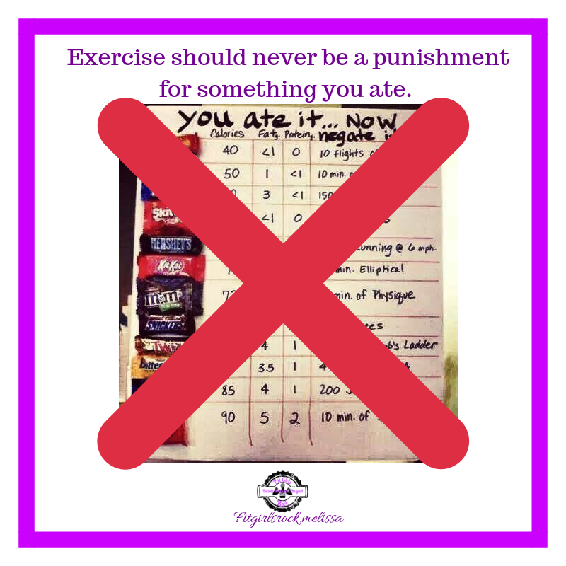 Exercise is not a punishment