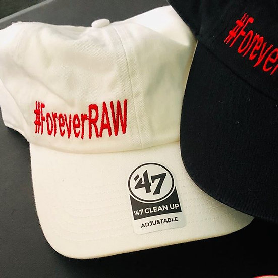 White Fitted ForeverRAW hat