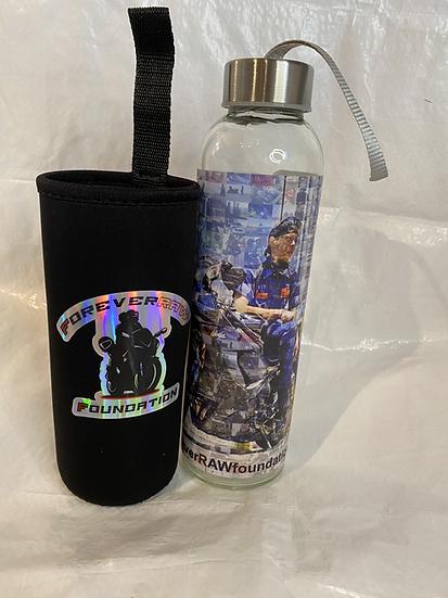 ForeverRAW Memorial Glass Drinking Bottle